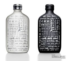 These specially designed bottles were for Calvin Klein scents. They also came packages with a portable Mp3 speaker. The idea behind the multiple languages on the bottles and the speakers is that music is a universal language that crosses cultural barriers. I think this design did an excellent job of embodying the idea of unity.