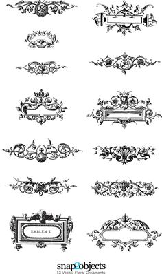 preview free vector floral ornaments pack 03