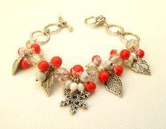 #Christmas #Jewelry Christmas #Bracelet #Berry by insoujewelry on Etsy