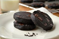 Double Dark Chocolate Shortbread Cookies | The View from Great Island