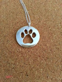 Dog paw necklace Paw Pendant Dog Lover Jewellery by flowerpecker