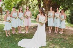 Rustic Mint Green And Coral Orchard Wedding Part 1 - Bridal Musings Wedding Blog