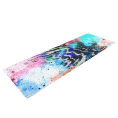 Zebra Wood Galaxy by Caleb Troy Rainbow Yoga Mat