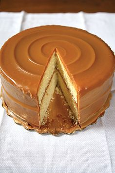 Buttery Cake Slathered with Rich Caramel Icing