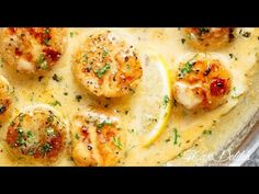 Creamy Garlic Scallops are just as good as restaurant scallops with minimal ingredients and maximum flavour! Ready in minutes! Shrimp And Scallop Recipes, Shrimp Recipes Easy, Fish Recipes, Seafood Recipes, Cooking Recipes, Garlic Scallops Recipe, Sauteed Scallops, Garlic Shrimp, Seafood Scallops