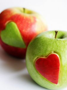 apple with heart, easy!