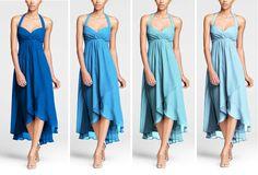 David's Bridal Color order: Horizon, Cornflower, Pool, Capri This is one sexy dress! Davids Bridal Bridesmaid Dresses, Blue Bridesmaids, Bridal Gowns, Wedding Dresses, Bridesmaid Ideas, Infinity Dress, Dream Dress, Wedding Ideas, Wedding Themes