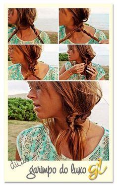 Simplesmente uma trança feita com tranças: | 22 penteados simples para quando você não sabe o que fazer com seu cabelo