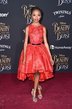 """Skai Jackson attends Disney's """"Beauty and the Beast"""" premiere at El Capitan Theatre on March 2, 2017 in Los Angeles, California"""
