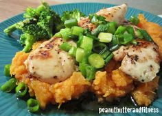 PEANUT BUTTER AND FITNESS: Maple Glazed Chicken with Mashed Sweet Potatoes
