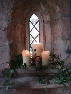 church window decoration for wedding