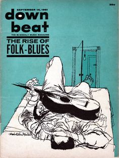 March 1961 illustration for the cover of Downbeat jazz magazine - artist David…