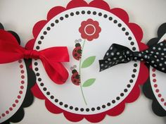 Ladybug banner on etsy.  This is adorable!