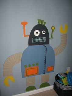 robot mural for the wall