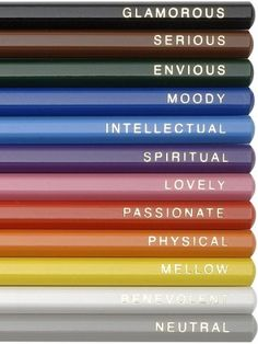 A pencil for every mood. <3