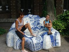 Delft pottery chair