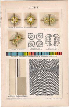 1889 science of light original antique science physics print. $52.50, via Etsy.