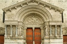 The portal of the Romanesque Church of St. Trophime, Arles