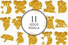Gold Koala by Kaazuclip on @creativemarket