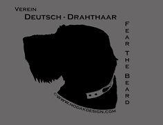 Drahthaar Fear the Beard by Nodak Design