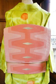 Art is cool and crisp design stylish and sweet pink that will have a positive image soft and gentle sister shop online shop coordination □ ■ ■ □ kimono / recycled antique kimono - Nagoyaobi of modern Scandinavian Pale pink geometric pattern You are not too sweet Tsukuridashi someone could have finished me, but the point is kept of cute, stylish coordination.