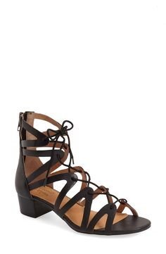 The perfect summer sandal! This beauty from Corso Como features a low stacked heel and lace-up ties to pull everything together.