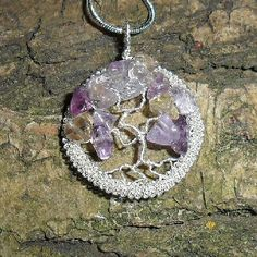 www.hastings-crystal.co.uk >> Jewellery >> Handmade Jewellery >> Ametrine Tree Of Life Handcrafted Necklace