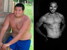 Roger hoje (E) e na adolescência (D): rotina de exercícios físcos e controle de alimentação garantiram perda de cerca de 40 quilos em período de cinco anos (Foto: Arquivo Pessoal)