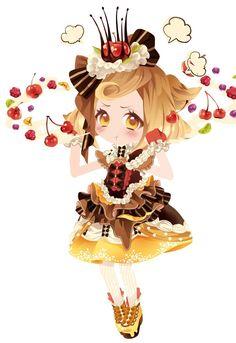 Resultado de imagen de chibi anime kawaii comida
