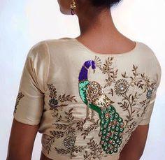 Blouse Back Neck Designs, Peacock Blouse Designs, Netted Blouse Designs, Hand Work Blouse Design, Stylish Blouse Design, Fancy Blouse Designs, Bridal Blouse Designs, Velvet Dress Designs, Designer Blouse Patterns