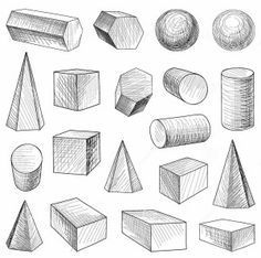 drawing shapes basic drawings geometric easy step fun pencil sketches lessons colorful creates smart use different