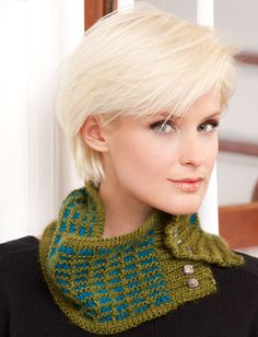 Yarnspirations.com - Bernat 10th Floor Cowl - Patterns  | Yarnspirations