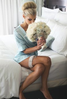 {Bride Pose} {Something Old, ?. Something New, Dress. Something Blue, Garter}