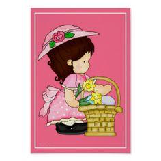 Annabella's Easter Basket d6 Wall Artwork Print