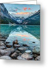 Dawn At Lake Louise Greeting Card