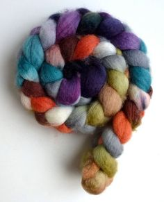 Summer Rooftops, BFL Wool Roving  Hand Painted Spinning or felting fiber by threewatersfarm, $17.95