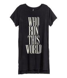 Pitkä T-paita   Musta   Ladies   H&M FI