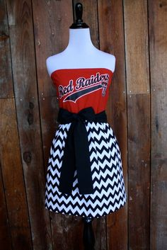 Texas Tech Red Raiders Strapless Game Day Dress  by Jill Be Nimble on Etsy