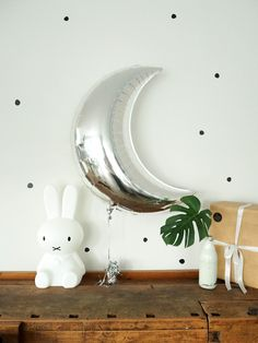 BALLOON FANTASY Mond Ballon silber #kindergeburtstag #interior #home #deko #dekoration #ballon #mond #balloon