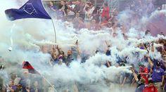Fans go wild as Orlando City Soccer hosts the Colorado Rapids of Major League Soccer in Orlando,Florida. Orlando City Soccer beat Colorado Rapids 3-1.