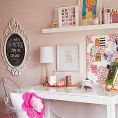 Overstock Parsons Desk, Contemporary, girl's room, Benjamin Moore Gentle Butterfly, Darling Darleen