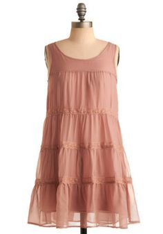 Blushing Bohemian Dress. A soft flush rises to your cheeks as you're complimented on your dusty rose dress. #pink #modcloth