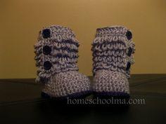 Crochet Ugg inspired Baby Boots Grey