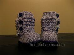 Crochet Ugg inspired baby boots