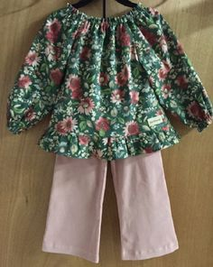 Peasant Top and Corduroy Pants girls size 6 by SewMeems on Etsy
