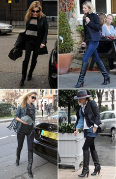 Kate: How to wear black boots!
