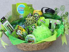 hannahshaven | color themed gift basket