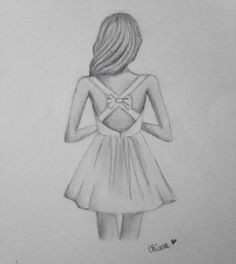 Drawing People cute girly easy drawings for teens - Yahoo Image Search Results - Tumblr Drawings, Girly Drawings, Doodle Drawings, Cute Drawings Of Girls, Drawings Of Dresses, Drawings Of Hearts, Easy But Cool Drawings, Tumblr Girl Drawing, Girl Drawing Easy