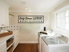 Viny Lettering Wall Art Self Serve Laundry. $16.00, via Etsy.