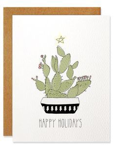 Poppytalk: 50 Beautiful Holiday Cards from Etsy | 2015 Holiday Card Round-Up Part I